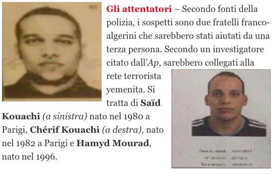 Attentato Charlie Hebdo: video, persone coinvolte ed esecutori