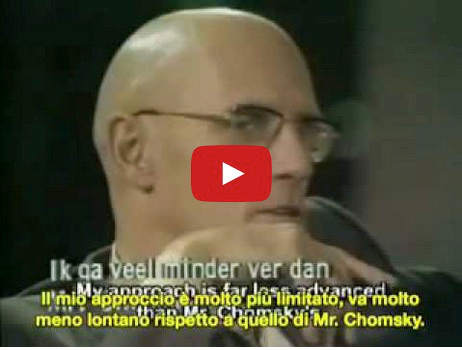 Discussione filosofica tra Foucault e Chomsky
