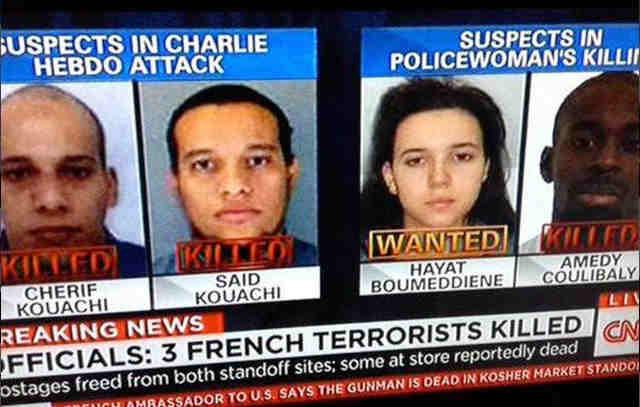 volti attentatori parigi