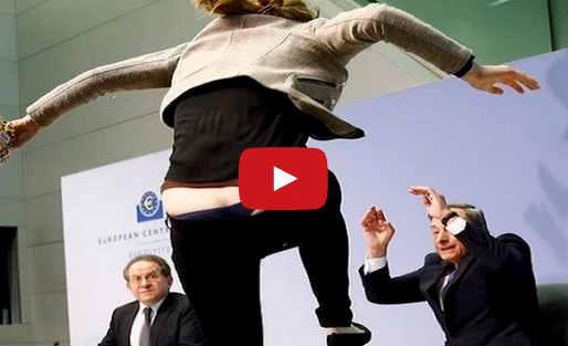 Paura sul volto di Draghi